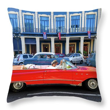 Convertible With Long Tailfins Throw Pillow