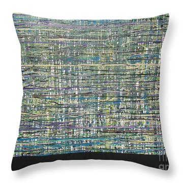 Throw Pillow featuring the painting Convoluted by Jacqueline Athmann