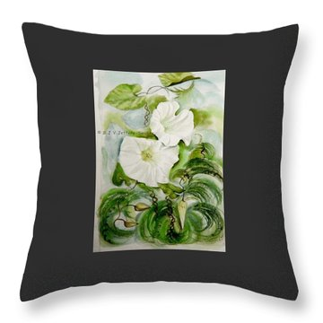 Convolvulus.3. Throw Pillow by SJV Jeffery-Swailes