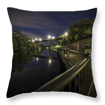 Conway Riverwalk Morning Throw Pillow