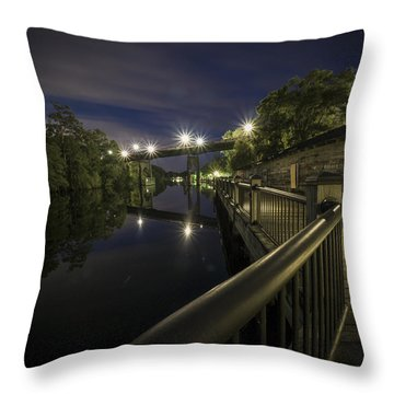 Conway Riverwalk Morning Throw Pillow