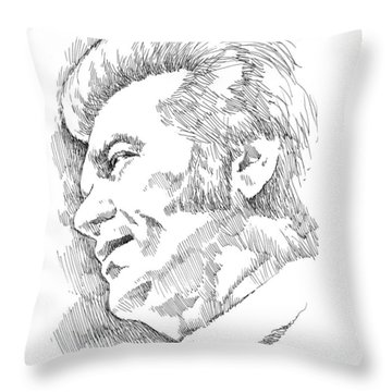 Conway Twitty Throw Pillow