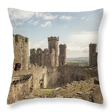 Conwy Castle Throw Pillow