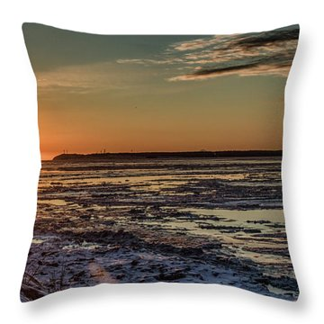 Cook Inlet Sunset Alaska  Throw Pillow