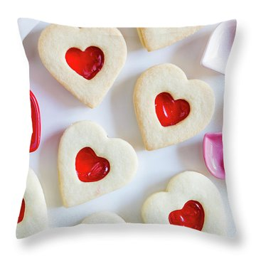 Throw Pillow featuring the photograph Cookie Baking Love by Teri Virbickis