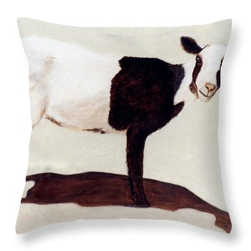 Cookies And Cream Throw Pillow by Jan Amiss