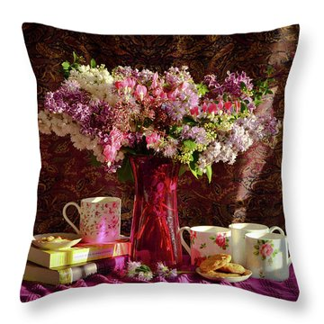 Cookies, Coffee And Comfort Throw Pillow by Wendy Blomseth