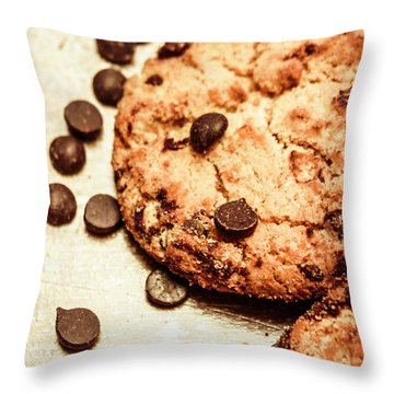 Cookies With Chocolare Chips Throw Pillow