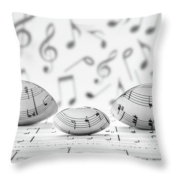 Cooking Is Like Music Throw Pillow