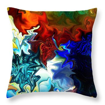 Cool And Warm Throw Pillow