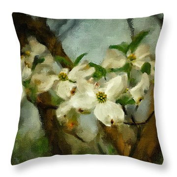 Cool Breeze Painterly Throw Pillow