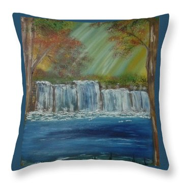 Throw Pillow featuring the painting Cool Change by Debbie