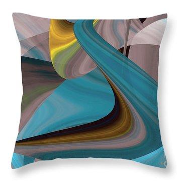 Cool Curvelicious Throw Pillow