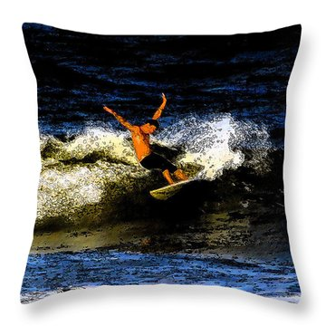 Cool Dude Throw Pillow by David Lee Thompson