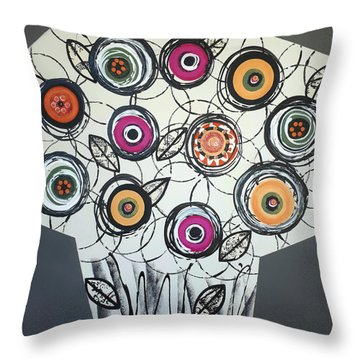 Cool Flowers Throw Pillow
