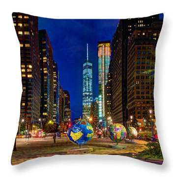 Cool Globes Throw Pillow