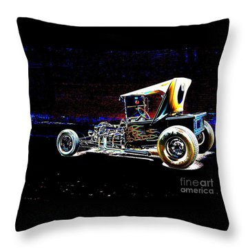Cool Hot Rod Throw Pillow