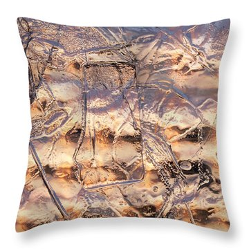 Throw Pillow featuring the photograph Cool Ice by Sami Tiainen