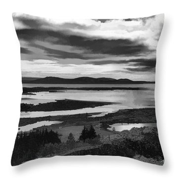 Cool Lakes Iceland Throw Pillow