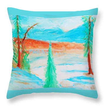 Cool Landscape Throw Pillow