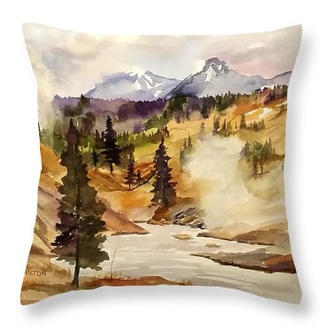 Cool Morning Throw Pillow
