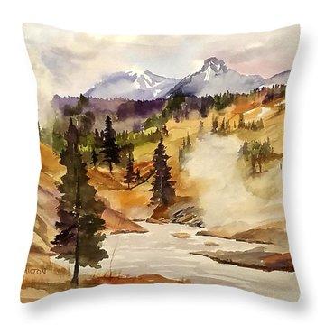 Cool Morning Throw Pillow