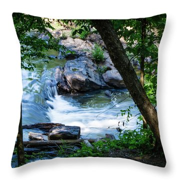 Cool Mountain Stream Throw Pillow