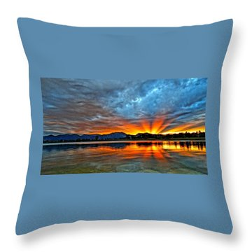 Throw Pillow featuring the photograph Cool Nightfall by Eric Dee
