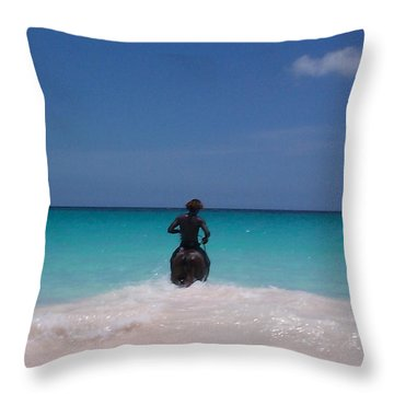 Throw Pillow featuring the photograph Cool Off Man by Mary-Lee Sanders