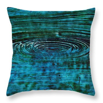 Throw Pillow featuring the mixed media Cool Spin by Sami Tiainen