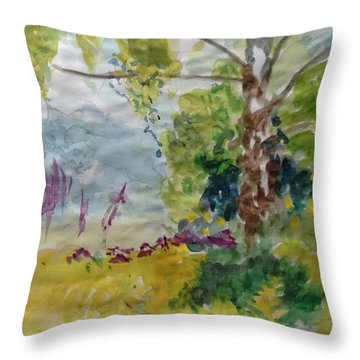 Cool Summer Clearing Throw Pillow