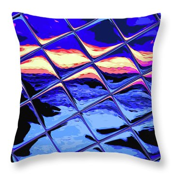 Cool Tile Reflection Throw Pillow by Stephen Younts