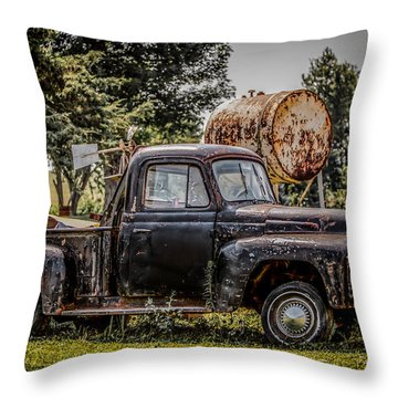 Cool Truck On A Hot Day Throw Pillow by Ray Congrove