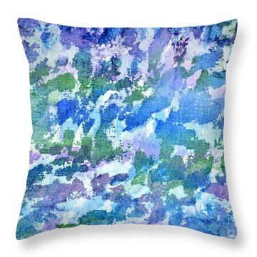 Cool Twilight Throw Pillow by Holly York