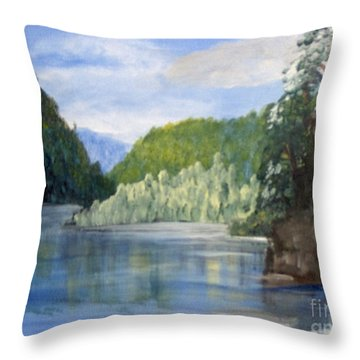 Throw Pillow featuring the painting Cool Water by Saundra Johnson