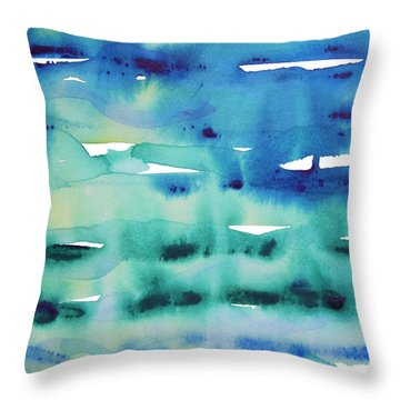 Cool Watercolor Throw Pillow