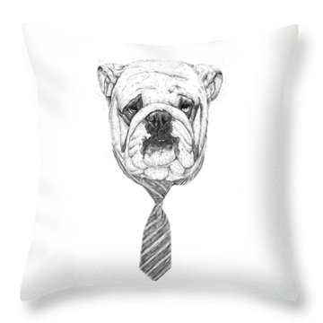 Cooldog Throw Pillow by Balazs Solti