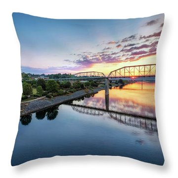 Coolidge Park Sunrise Throw Pillow