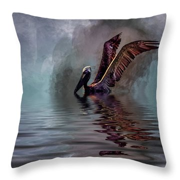 Cooling Off Throw Pillow by Cyndy Doty