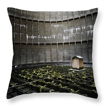 Throw Pillow featuring the photograph Cooling Tower Petit Maison by Dirk Ercken
