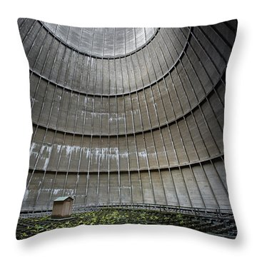 Throw Pillow featuring the photograph Cooling Tower Secret Little House by Dirk Ercken