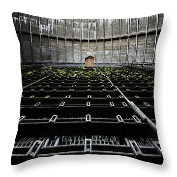 Throw Pillow featuring the photograph Cooling Tower Water Distribution by Dirk Ercken