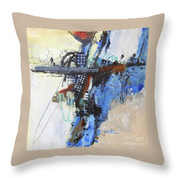 Coolly Collected Throw Pillow