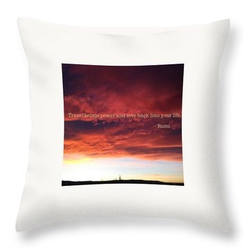 Cooma Sunset Throw Pillow