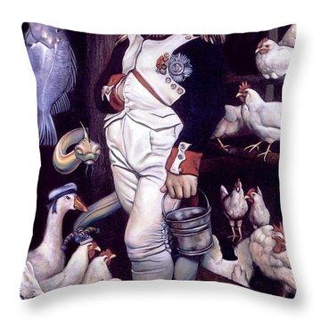 Coop D'etat Throw Pillow by Patrick Anthony Pierson