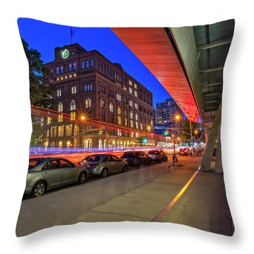 Throw Pillow featuring the photograph Cooper Union Nyc by Susan Candelario