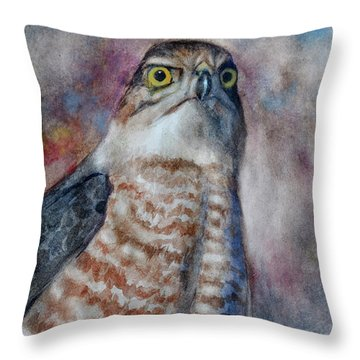 Coopers Hawk Wc Throw Pillow