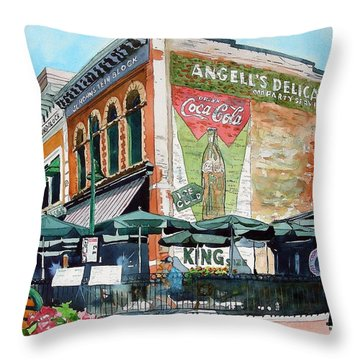 Coopersmith's Again Throw Pillow by Tom Riggs