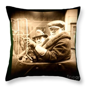 Cooperstown Babe Ruth  Throw Pillow