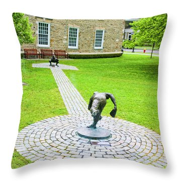 Cooperstown Ny Padres To Campanella  Throw Pillow